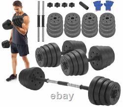 Vivo 30Kg Dumbbells Pair of Weights Barbell/Dumbells Body Building Set Gym Kit