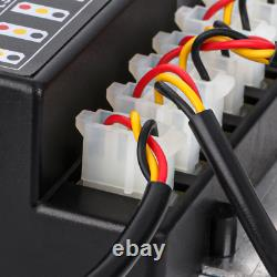 WHITE 160W 8 HID Bulbs Hide Away Hazard Emergency Warning Strobe Light Kit