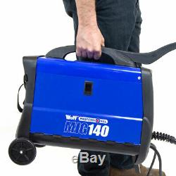 Wolf Professional MIG Welder 140 Turbo Fan Cooling Complete Gas Kit 135amp