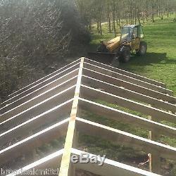 Wooden Garden Shelter Frame, Gazebo, Cart Lodge, Car Port Canopy Kit 6m x 4.8m