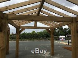 Wooden Garden Shelter Frame, Gazebo, Hot Tub, Car Port Canopy Kit 6m x 3m