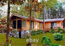 Woodland 44 x 44 Customizable Shell Kit Home, delivered ready to build