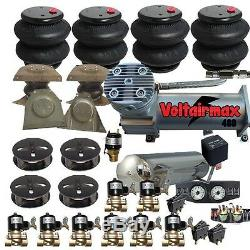 Z16 AirRide Suspension Kit 1963-1972 Chevy C10 3/8 Valves 8-Switch Bags Tank F16