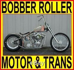 100 Moteur Et Transmission Rigide Bobber Chopper Châssis Roulant Kit Complet Bike