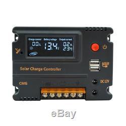 100w Panneau Solaire Kit 12v Batterie Charge 10a / 20a Contrôleur Caravan Boat Home Rv