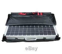 100w Portable Mono Panneau Solaire Pliable Kit Chargeur De Batterie De Caravanes De Camping