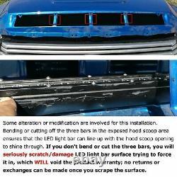 108w 36 Led Light Bar Avec Hood Scoop Bulge Mounting Wiring 14-21 Toyota Tundra