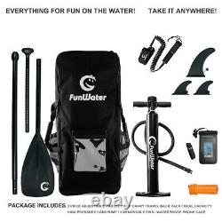 11' Gonflable Stand Up Paddle Board Sup Surfboard Avec Kit Complet 6''
