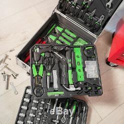 1200 Pcs Boîte À Outils En Métal D'aluminium Avec Le Stockage Du Kit D'outils Chariot Mobile