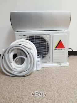 12 000 Btu Ductless Climatiseur, Pompe À Chaleur Mini Split 110v 1 Tonne Avec / Kit