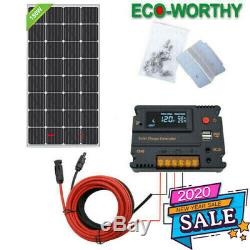 12v 150w Mono Panneau Solaire Kit Avec Contrôleur 20a Pour Bateaux Camp Extérieur De La Batterie