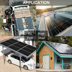 150w 12v Mono Solar Panel Kit Avec 20a Contrôleur Pour Batterie Extérieure Camp De Batterie