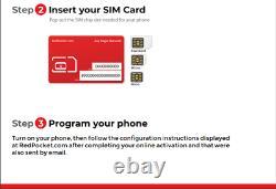 $15/mo Red Pocket Prépayé Wireless Phone Plan+kit Unimtd Everything 3go Lte