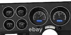 1973-1987 Chevy Truck C10 Black Alliage & Blue Dakota Digital Vhx Analog Gauge Kit