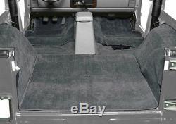 1976-1995 Jeep Wrangler Yj Et Cj7 Intérieur Kit Tapis Extérieur Noir