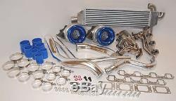 1979 1993 Ford Mustang Kit Twin Turbo 750hp Emballage Tt 260 289 302 351 5.0l 5l