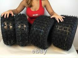 1999-2014 Honda Trx 400ex Massfx Quad Sport Atv Tires 21x7-10, 20x10-9 Ensemble 4