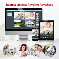 1tb Hdd 4ch Cctv Sans Fil 1080p Dvr Kit Extérieur Wifi Caméra Ip Enregistreur De Sécurité