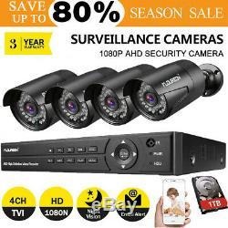 1to Hdd Dvr Cctv 8ch 1080p 3000tvl Extérieur Vidéo Kit Système De Sécurité Caméra Ip
