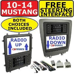 2010-2014 Ford Mustang Double Din Voiture Radio Stereo Dash Kit Touchscreen Climat