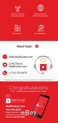 20 $ / Mo Prepaid Rouge Pocket Plan Pour Téléphone Sans Fil + Kit Unlmtd Tout 5gb Lte