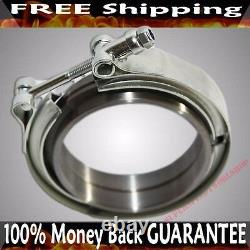 2.5'' V-band Flange & Clamp Kit For Turbo Exhaust Downpipes MILD Steel