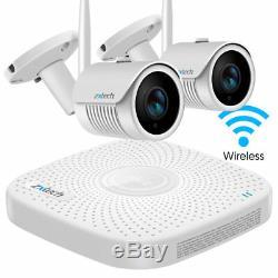 2 Caméras Extérieures Wifi Hd Système De Vidéosurveillance Audio 4ch Système De Vidéosurveillance Complet 1 To Plug Play P2p