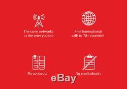 $ 30 / Mo Prepaid Rouge Pocket Plan Pour Téléphone Sans Fil + Kit + Tout Unlmtd 20gb Lte