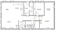 3 Bed Adelaide Timber Frame Annex Auto-build Lodge Kit Caravan Act Conforme