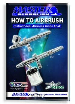 3 Master Pro Airbrush Compresseur D'air Kit, Hobby, Auto, Gâteau, Peinture Art Tattoo