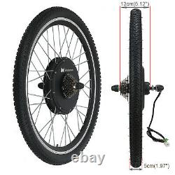 48v 1000w Electric Bicycle Motor Conversion Kit Bike Cycling Hub 26 Roue Arrière