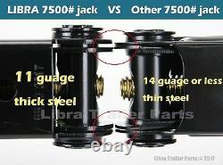 (4) 7500 Lb 24 Hd Rv Stabilisateur De Nivellement Ciseaux Jacks Avec Poche & Installer Kits