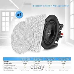 4 Haut-parleurs 8 Bluetooth Plafond / Kit Haut-parleur Mural, Flush Mount 2-way Maison