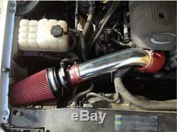 4 Red 99-06 Gmc / Chevy V8 4.8l / 5.3l / 6.0l Froide Système D'admission D'air + Bouclier Thermique