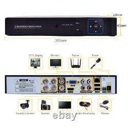4ch Dvr 1080p Cctv Système De Caméra De Sécurité Accueil Kit Ir Extérieur Vision Nocturne