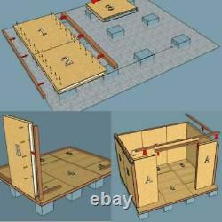 5m X 3m Jardin Isolé Auto Construire Bureau Kit Bricolage, Salon De Jardin, Bureau Studio