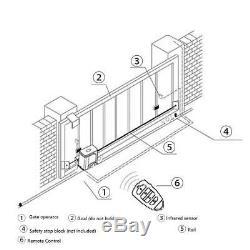 600kg Porte Coulissante Automatique Ouvre Kit Porte Électrique 2 Racks Télécommande