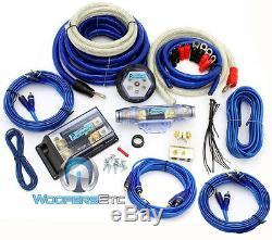 8000w 0 Gauge 4 Awg 3 Rca 2 Voies Amplificateur De Puissance Installation Complète Fil Amp Kit