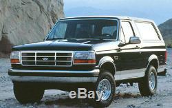 92 96 98 Ford Truck Bronco 3pc Chrome Grill & Head Light Kit Porte F150 F250 F350