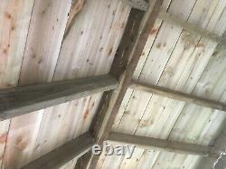Abri En Bois Avec Ashpalt Single Roof Diy Kit 4.2m X 3m