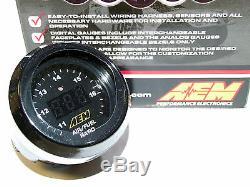 Aem Numérique Wideband Air Fuel Ratio Uego O2 Controller Kit De Jauge (bosch 4.9 Lsu)