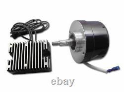 Alternateur De Générateur Noir 12 Volt 17 Kit De Conversion D'ampli Harley Ironhead Panhead