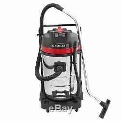Aspirateur Industriel Sec Et Humide 80l Carwash Kit 6pc Gratuit Kit 3000w