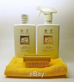 Autoglym Nettoyant Cuir & Care Baume Kit Avec Brosse Et Microfibre