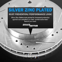 Avant + Arrière Drill Fente De Frein Rotors Et Plaquettes En Céramique Pour Chevy Silverado Escalade