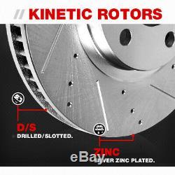 Avant Et Arrière Forée Slotted Rotors Et Plaquettes De Freins En Céramique Pour Infiniti Nissan