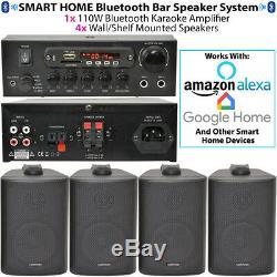 Bar / Restaurant Bluetooth Mur Système D'enceintes Sans Fil Musique De Fond Amp Kit
