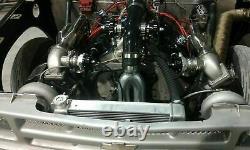 Bbc T4 Twin Turbo Kit Pour Gmc Gm Chevy Big Block 427 454 396 502 572 1200ch