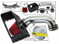 Bcp Rouge 09-18 Dodge Ram 1500 2500 3500 5.7 V8 D'admission D'air Froid Kit + Heat Shield