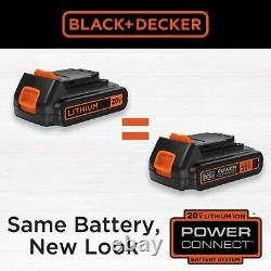 Black+decker Combo Sans Fil De Forage Avec Boîtier, 6-outils Pilote Sander Jigsaw